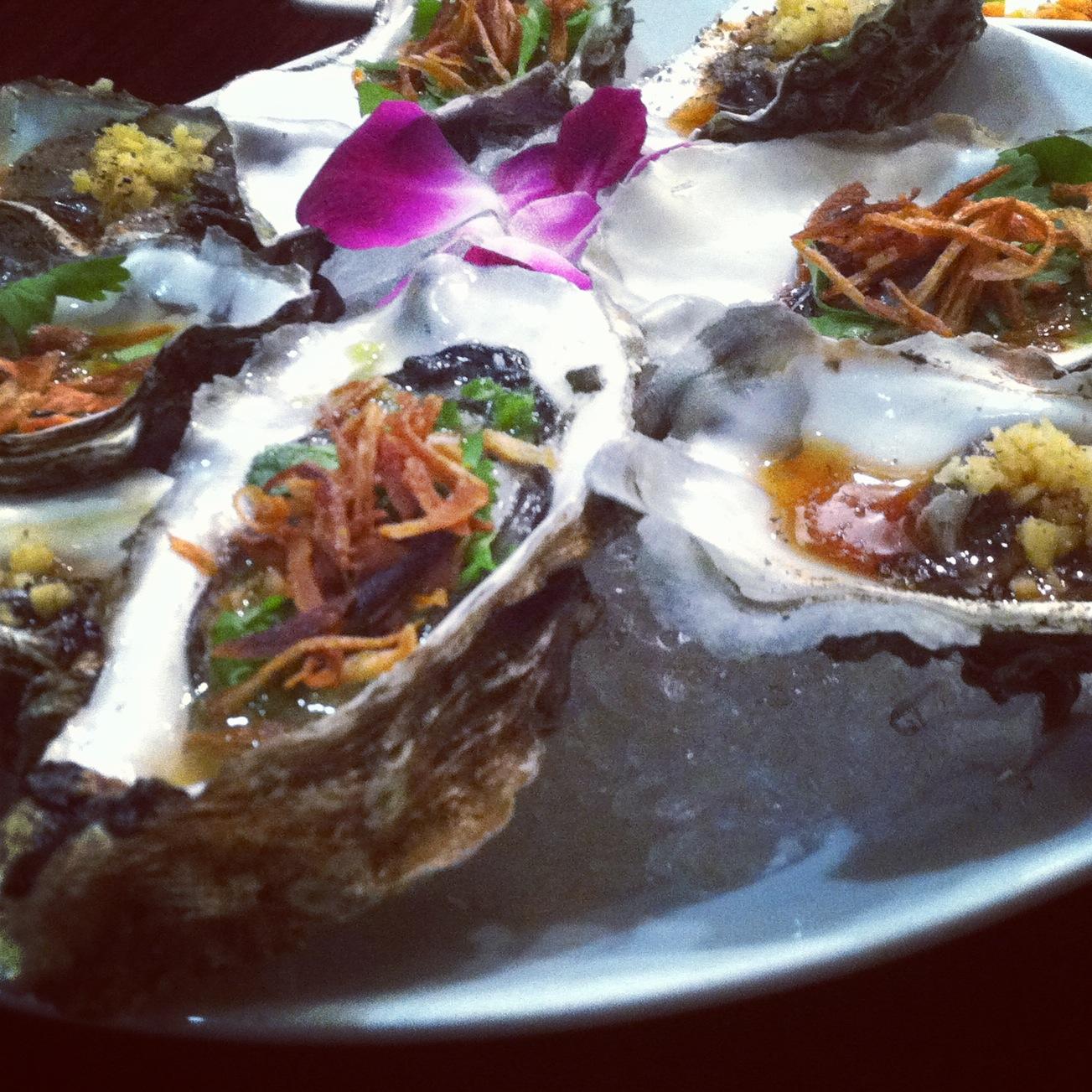 Raw Hama Oysters