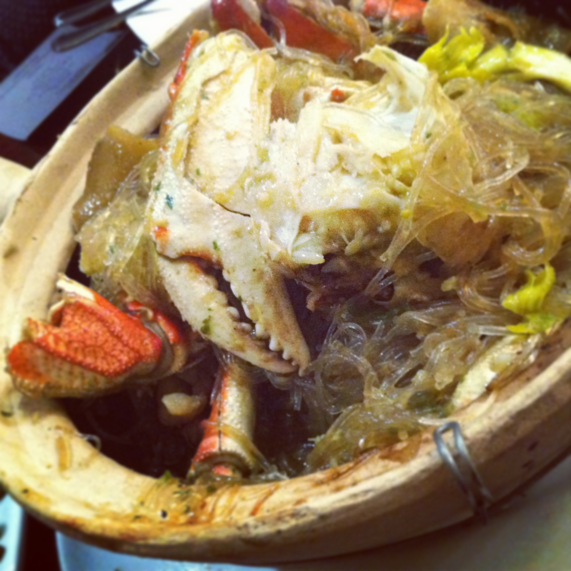 Claypot Baked Dungeness Crab